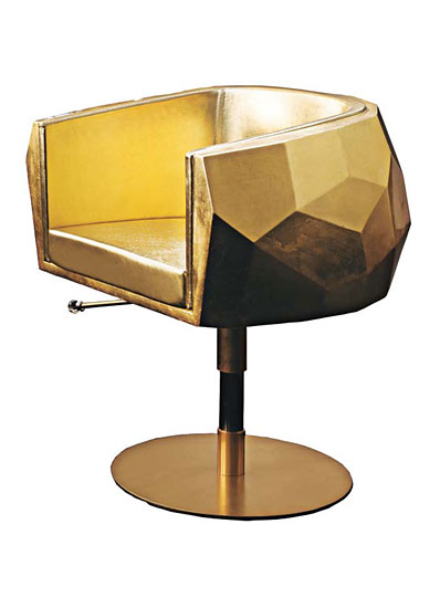 Fendi Casau0027s Carbon Fiber, Gold Leaf, And Leather Chair