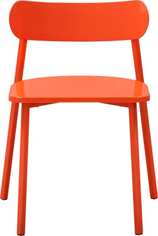 Fleet Hot Orange CB2 Chair by Jason Lewis