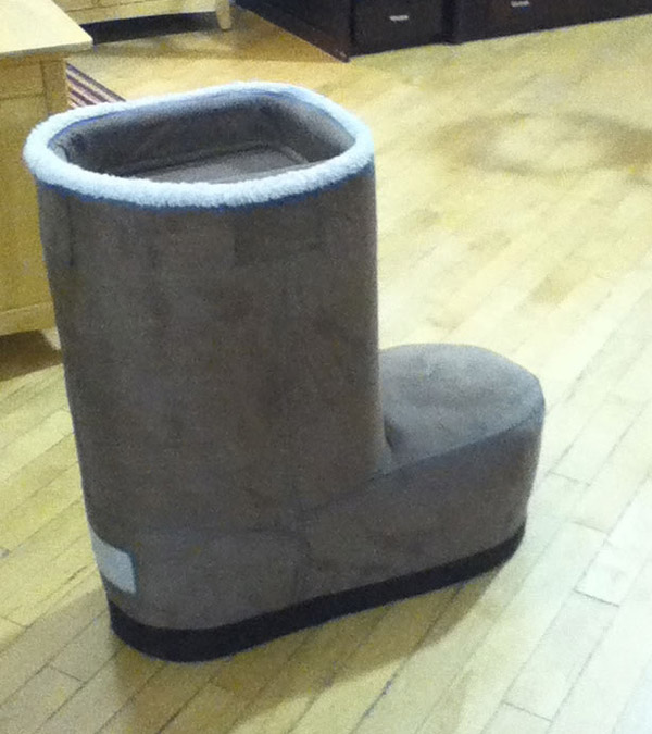 Giant ugg boot chair