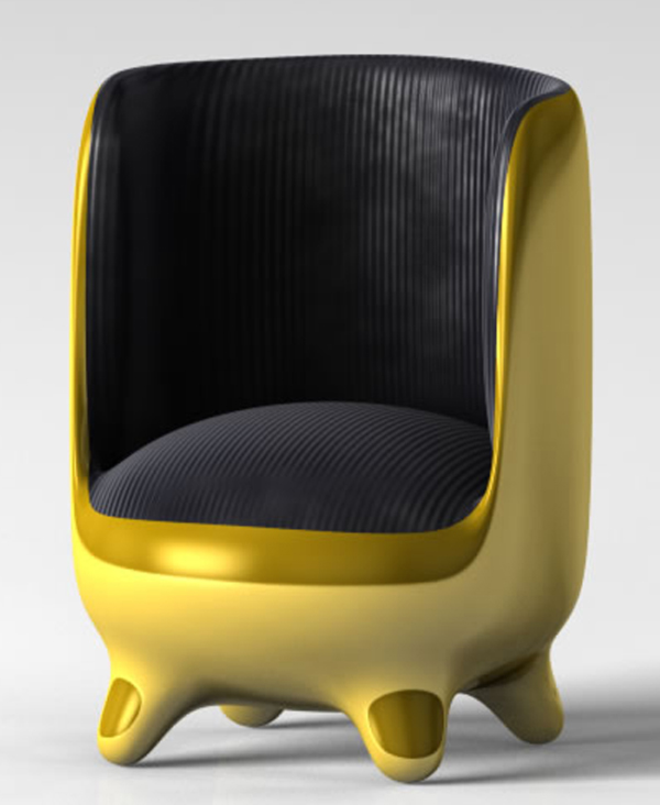 Golden Egg Chair by Onur Mustak Cobanli