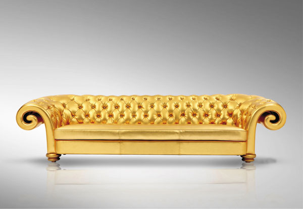 Genial Golden Sofa