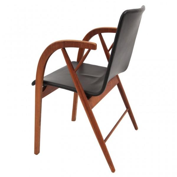 Kipp Stewart Walnut & Leather Chair
