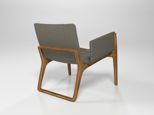 Mandarine Chair by Claudia and Harry Washington backview