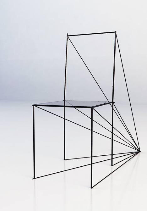Mechanical Perspective chair by Artem Zigert