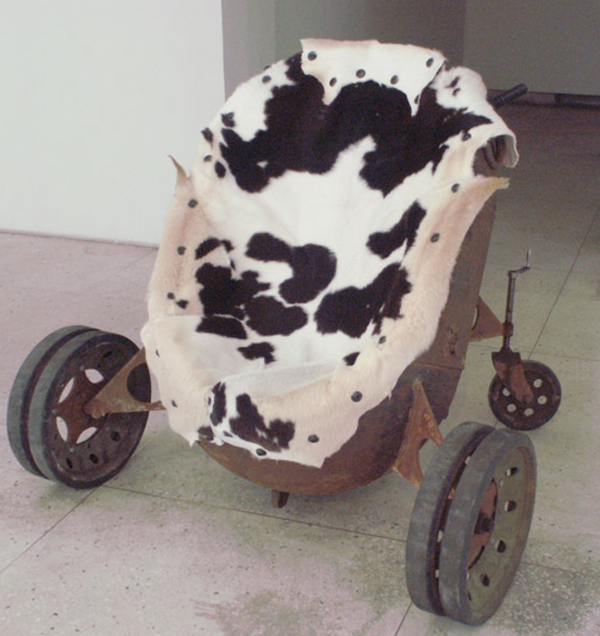 The Cow Lounger Mine Chair by Mati Karmin