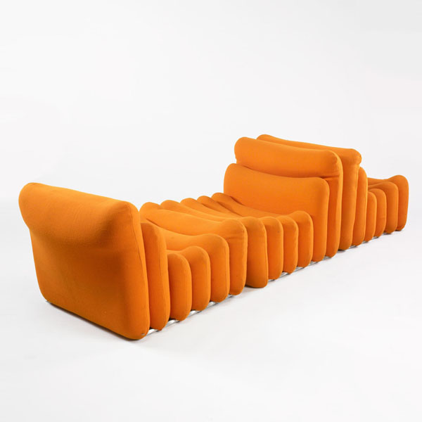 Orange Additional Seating by Joe Colombo
