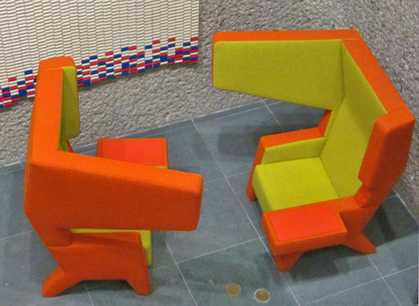Orange Big Wing Chair by Jurgen Bey