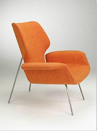 Orange Chair By Alvin Lustig For Paramount Furniture, 1949