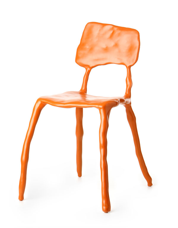Orange Clay Chair by Maarten Baas