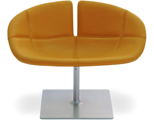Orange Fjord Swivel Chair by Patricia Urquiola