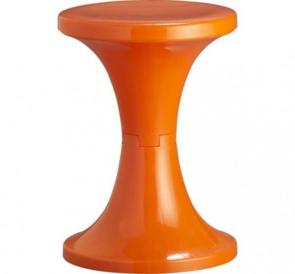 Orange Flamingo Stool