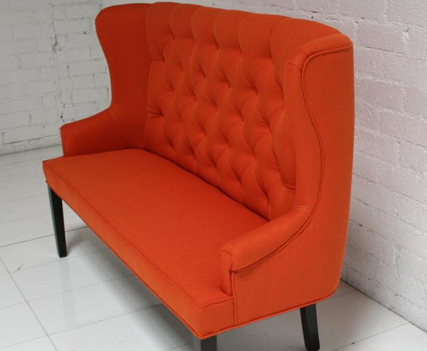 Orange Florence Dining Loveseat