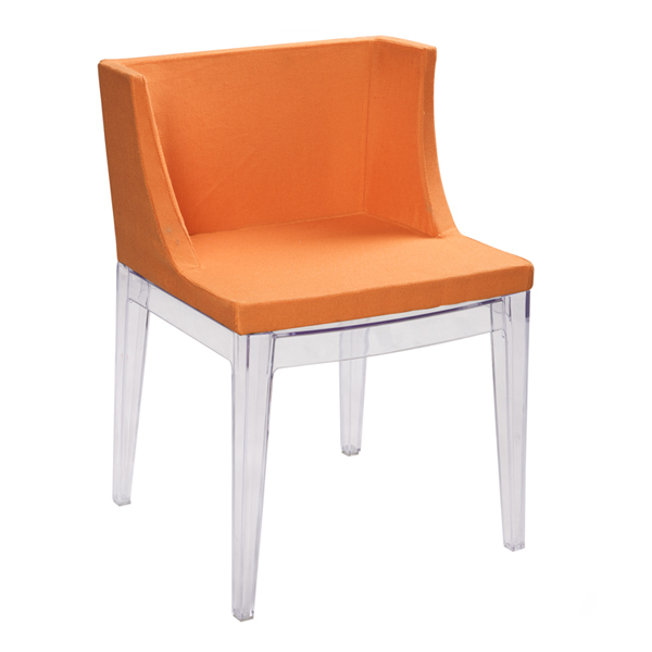 orange mademoiselle chair by philippe starck for kartell chairblog eu