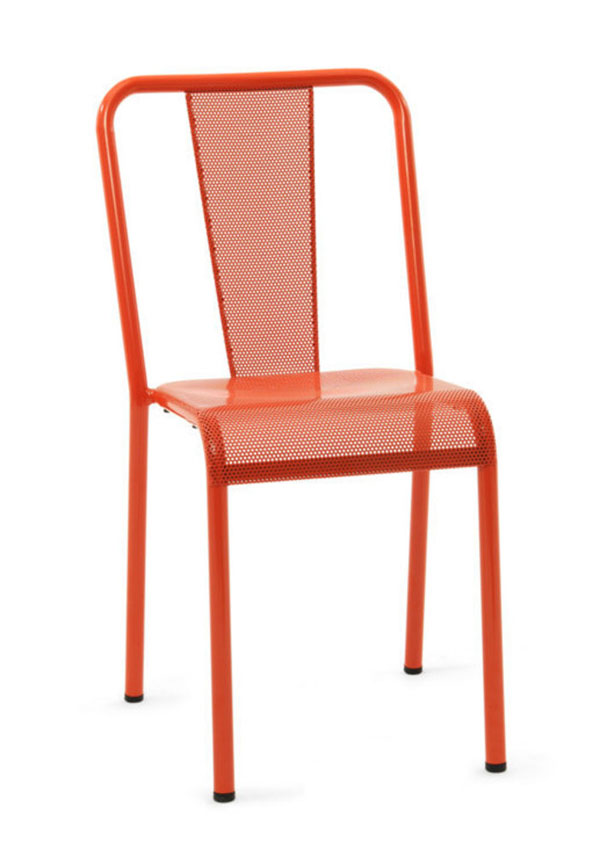 Orange Perforated Tolix T37 Chair by Chantal Andriot