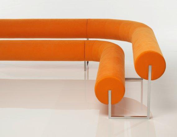 Orange Pipedream Bench by Robert Öhman