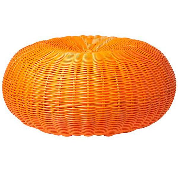 Orange Pouffe