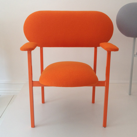 Orange Re-imagined Chair by Nina Tolstrup Front View