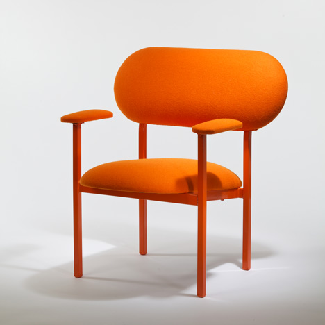 Orange Re-imagined Chair by Nina Tolstrup two third View