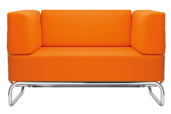 Orange S5001 Sofa by James Irvine for Thonet