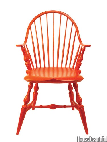 Orange Windsor Chair