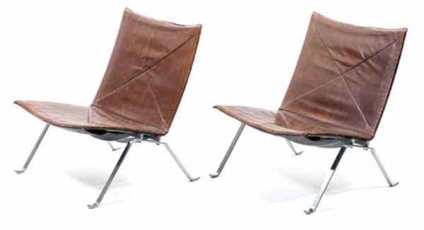 Pair-of-PK-22-Lounge-Chairs-by-Poul-Kjaerholm