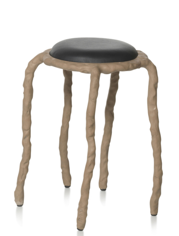 Plain Clay Stool by Maarten Baas Natural