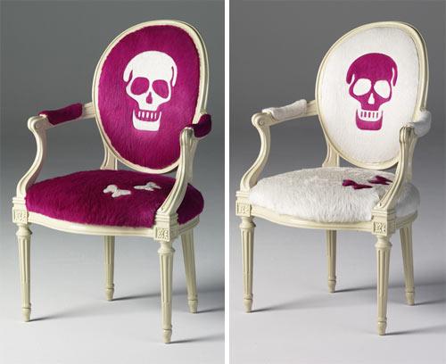 Purple Skull Upholstery