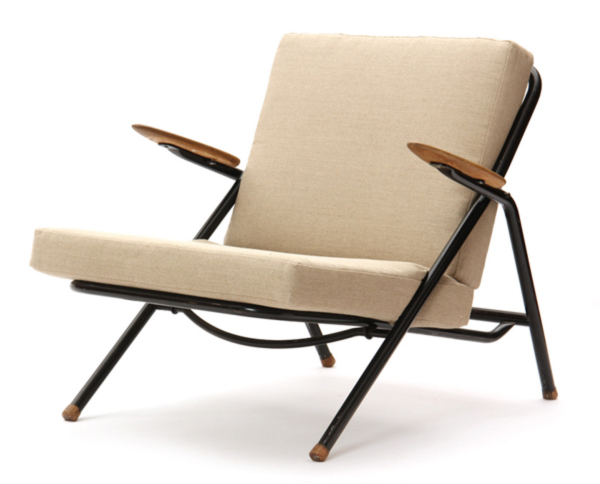 Rare Tubular Lounge Chair By Hans Wegner Side