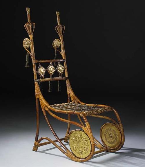 Rattan Chair by Carlo Bugatti, 1900