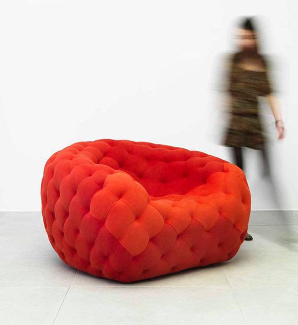 Red Armchair by Robert Stadler