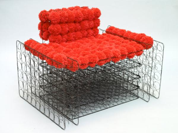 Red Occupy Chair by Dejane Kabiljo