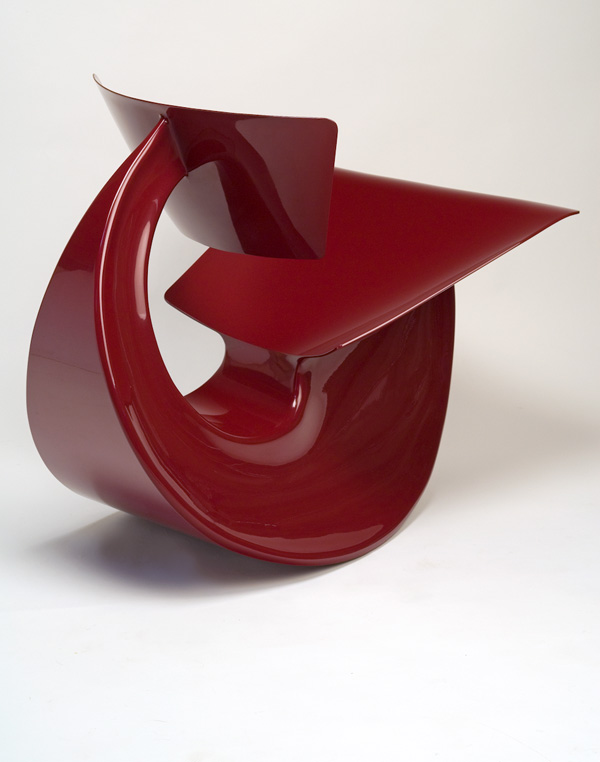 Red Rocker by Vivian Beer Side View