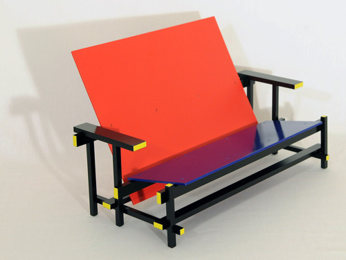 Rietveld Red Blue Settee