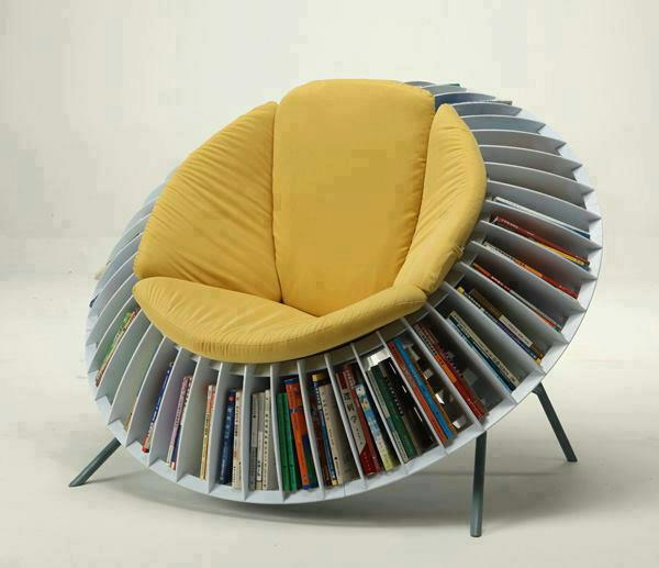 Round Chair - Bookcase combination
