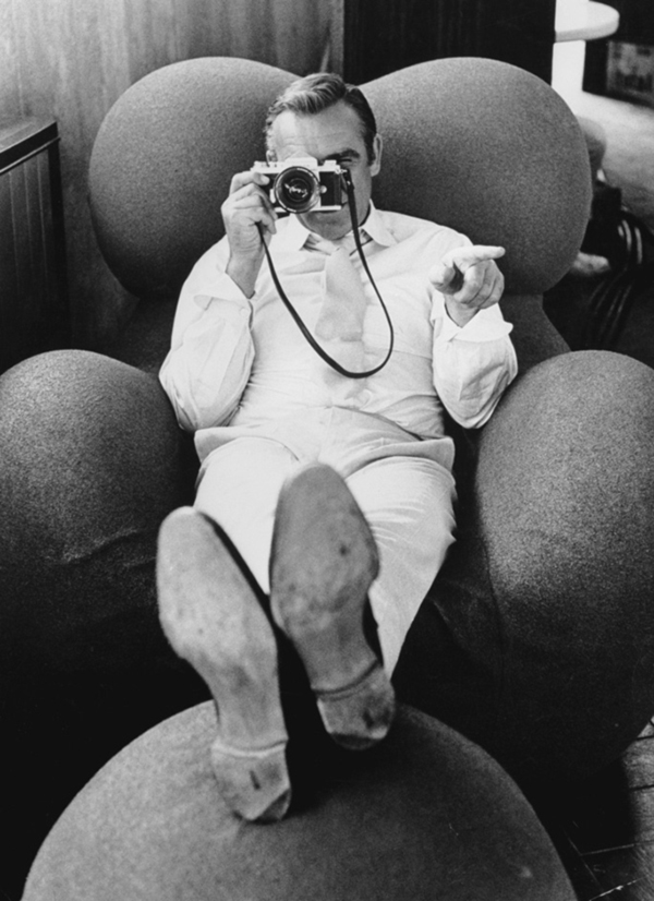Sean Connery in Gaetano Pesce's Up 5 Chair