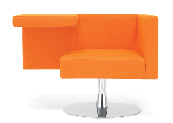 Solitaire Chair by Alfredo Haeberli in Orange