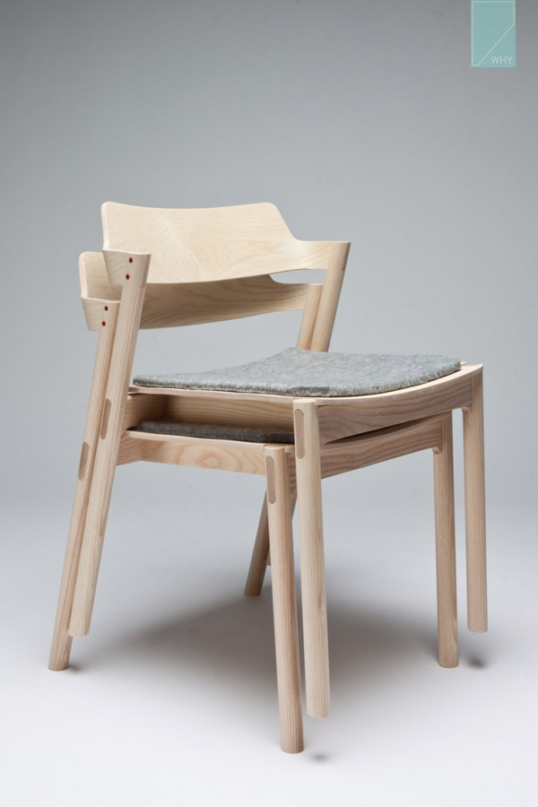 Stackable Chair by Jonah Willcox-Healy side view