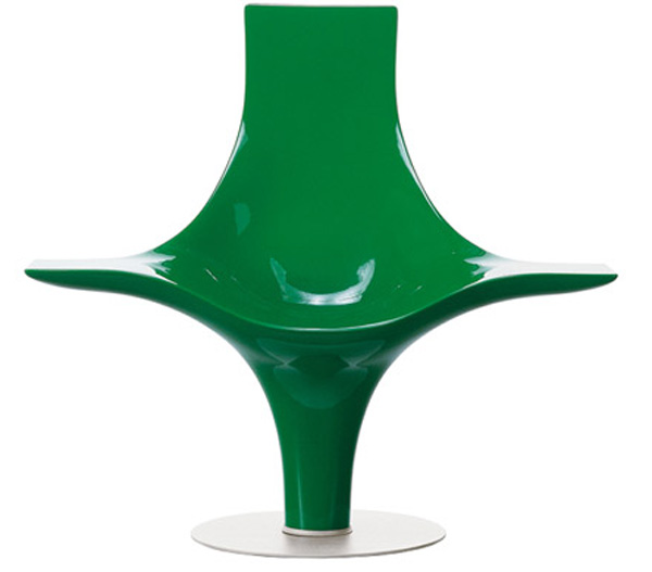 Green Statuette Chair by Lloyd Schwan