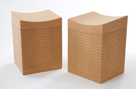 Sway Cork Stools by Daniel Michalik