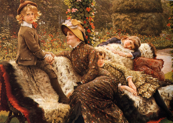 The Garden Bench by James Jacques Tissot