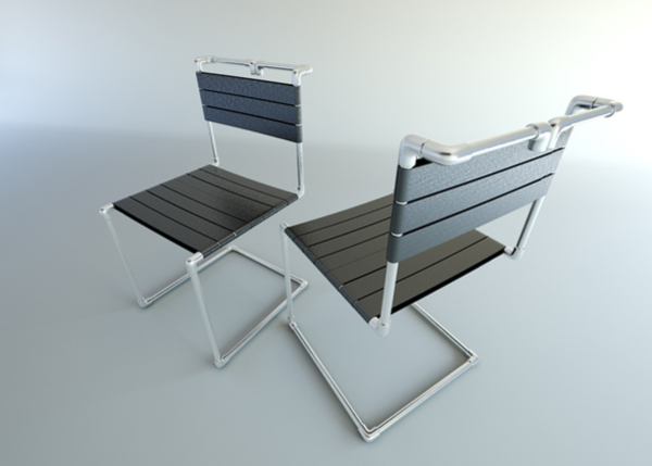 Tribute to Mart Stam's Tubular Cantilever Chair by Henrich Zrubec