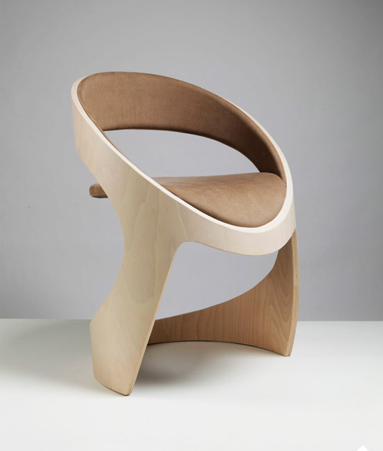 Tube Chair by Jean-Pierre Martz Wood