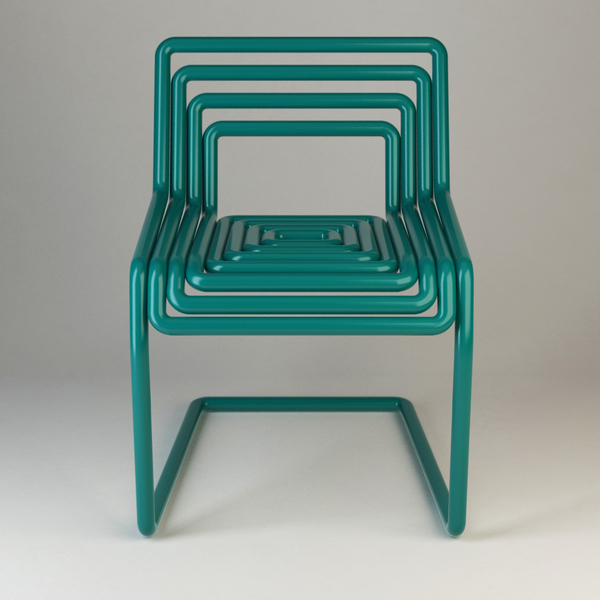 Tube Chair by Oleksandr Shestakovych Front