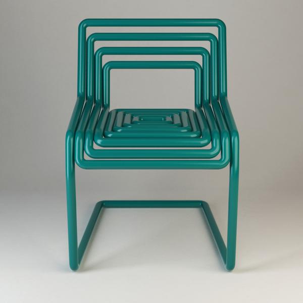 Tube Chair by Oleksandr Shestakovych Front