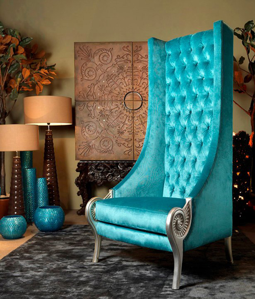 Turquoise Armchair by Collection Alexandra