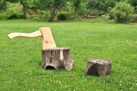 Two Stumps and an Axe