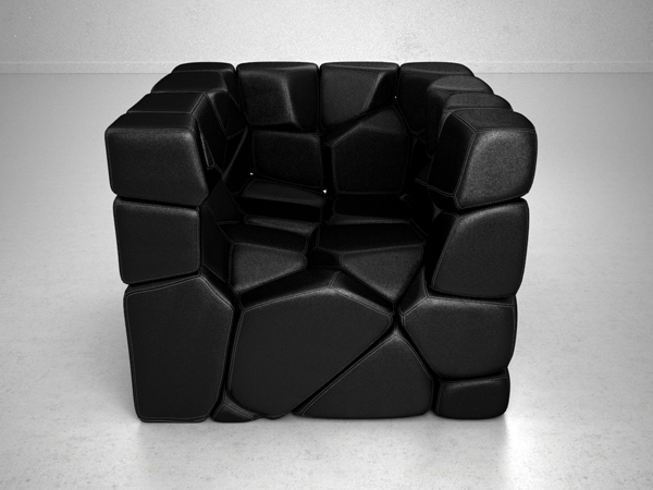 Vuzzle Chair by Christopher Daniel Front