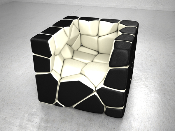 Vuzzle Chair by Christopher Daniel White Interior
