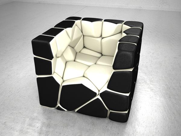 Vuzzle Chair by Christopher Daniel White Interior