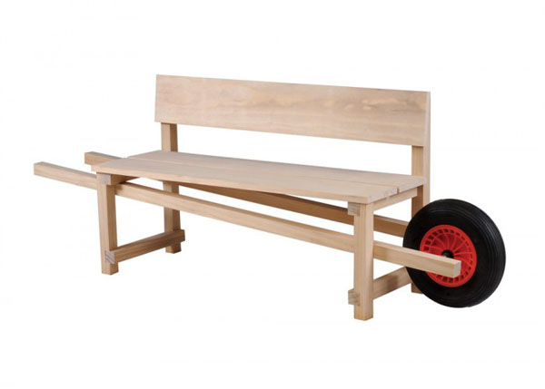 Wheelbarrow Bench